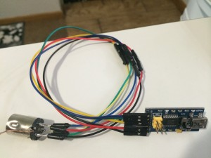 Homebrew 6 pin din to USB cable
